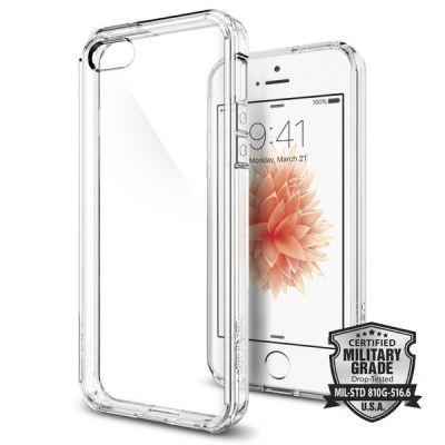 Spigen Ultra Hybrid puzdro pre iPhone SE/5s/5 - priehľadné