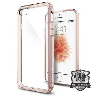 Spigen Ultra Hybrid puzdro pre iPhone SE/5s/5 - ružové