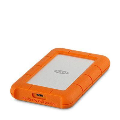 Lacie - 2TB Rugged USB-C externý disk - strieborný/oranžový