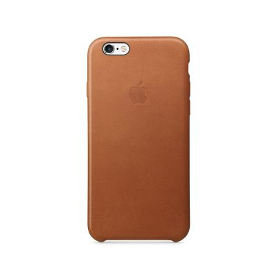 Apple - iPhone 6s Leather Case - Saddle brown