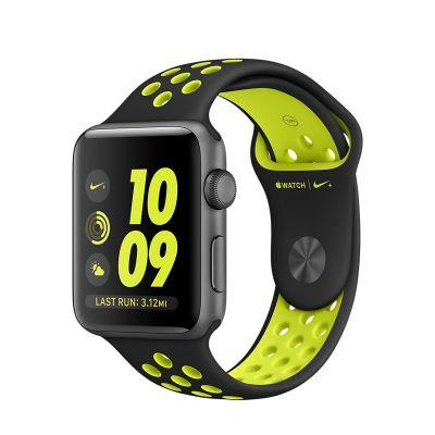 Apple Watch Nike+ - 42mm puzdro z vesmírne sivého hliníka s čiernym / Volt športovým remienkom Nike