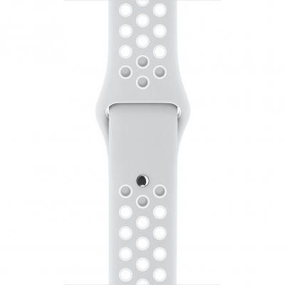Apple - 38mm platinový/biely Nike športový remienok - S/M & M/L
