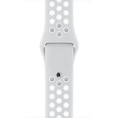 Apple - 42mm platinový/biely Nike športový remienok - S/M & M/L