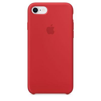 Apple - iPhone 8 / 7 silikónový kryt - červený - (PRODUCT)RED
