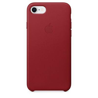 Apple - iPhone 8 / 7 kožený kryt - červený (PRODUCT) RED