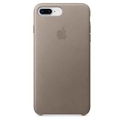 Apple - iPhone 8 Plus / 7 Plus kožený kryt - dymový