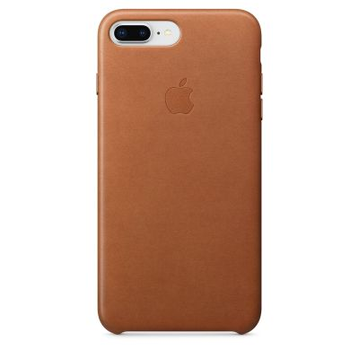 Apple - iPhone 8 Plus / 7 Plus kožený kryt - sedlovo hnedý