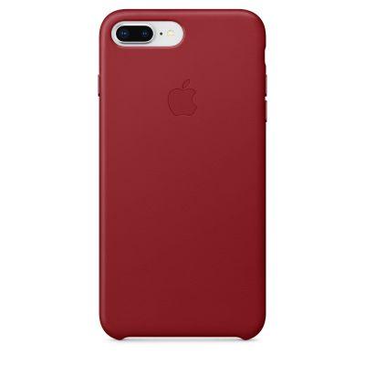 Apple - iPhone 8 Plus / 7 Plus kožený kryt - červený (PRODUCT) RED