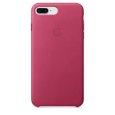 Apple - iPhone 8 Plus / 7 Plus kožený kryt - fuchsia