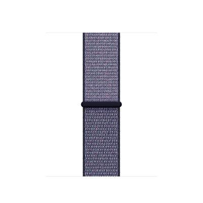 Remienok na Apple Watch 38mm prevliekací - polnočne modrý