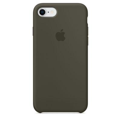 Apple - iPhone 8 / 7 silikónový kryt - tmavo olivový