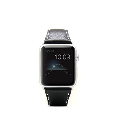 SLG Design - D7 kožený náramok pre Apple Watch 38mm - čierny