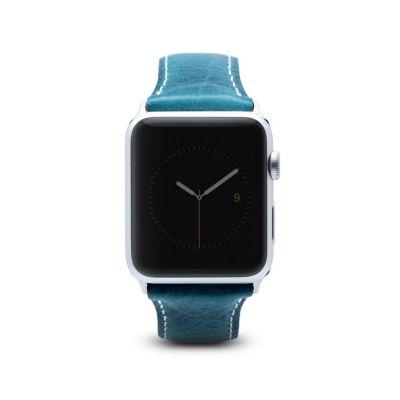 SLG D7 Wax remienok pre Apple Watch 42 mm - modrý