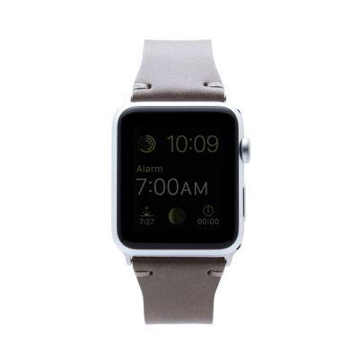 SLG Design - D7 kožený náramok pre Apple Watch 42 mm - béžový