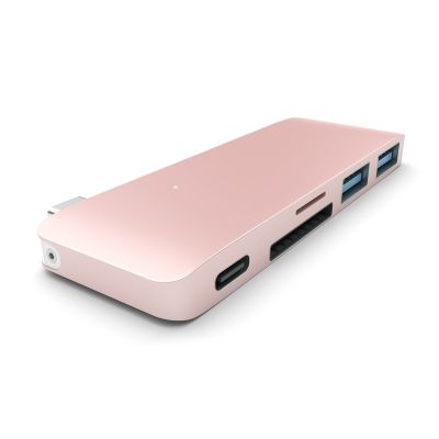 SATECHI USB-C PASS HUB s piatimi výstupmi  - ružovo zlatý