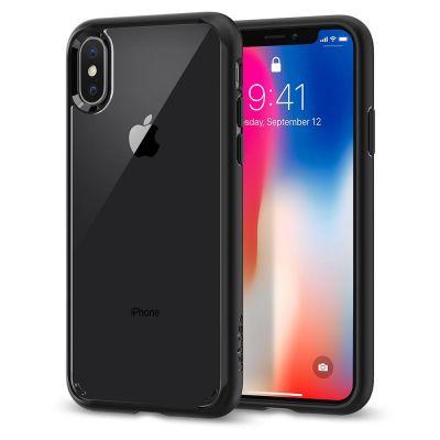 Spigen Ultra Hybrid, matte black - iPhone X